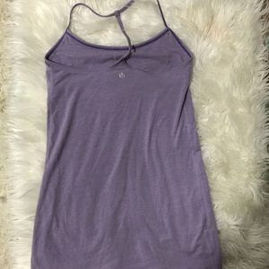 Lululemon Purple Tank Sports Bra Strappy Back